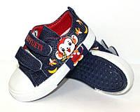 Детские кеды , джинсовые кеды для детей на липучках, фото 1