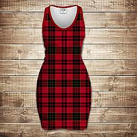 Платье-майка 3D-Red tartan