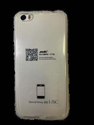 Захисний чохол-накладка smtt Soft Touch на Xiaomi Mi5c Прозорий, фото 2