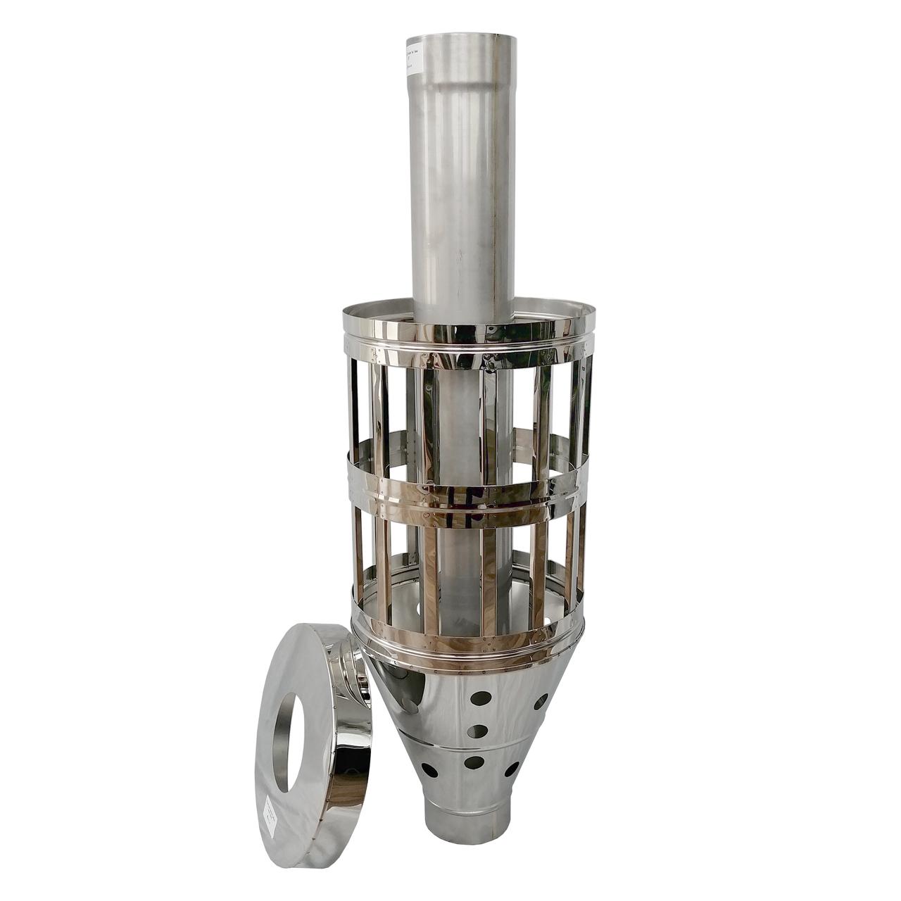 Труба-корзина (ребро) ø110 мм 1 мм 1 метр AISI 321 Stalar для камней дымохода сауны бани из нержавеющей стали
