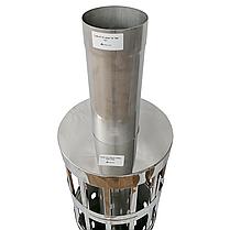 Труба-корзина (ребро) ø110 мм 1 мм 1 метр AISI 321 Stalar для камней дымохода сауны бани из нержавеющей стали, фото 2