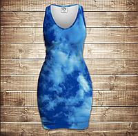 Платье-майка 3D -Blue sky
