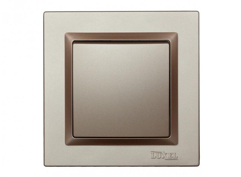 Выключатель одинарный Luxel JAZZ (9202) Терракотовый