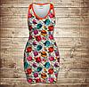 Плаття - майка 3D - Color sculls