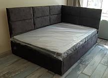 Кутове ліжко Блест в м'якій оббивці