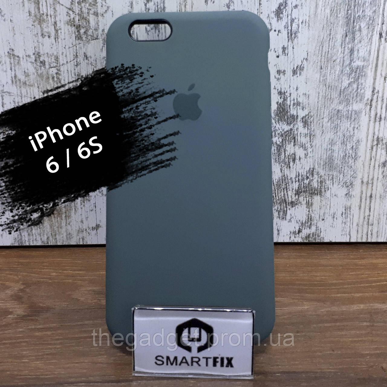 Силиконовый чехол для iPhone 6/6S Soft Бледно зеленый