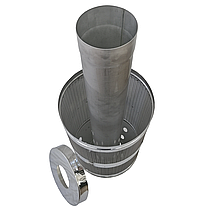 Труба-корзина (сетка) ø130 мм 1 мм 1 метр AISI 321 Stalar для камней дымохода сауны бани из нержавеющей стали, фото 2