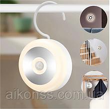 Акумулятор Нічник Нічна лампа з датчиком руху PIR світлодіодний світильник з USB зарядкою
