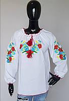 Женская вышиванка Васильки , размер 40-50