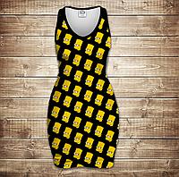 Плаття - майка 3D - Bart head Pattern, фото 1