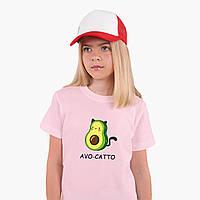 Детская футболка для девочек Авокадо (Avocado) (25186-1372) Розовый, фото 1