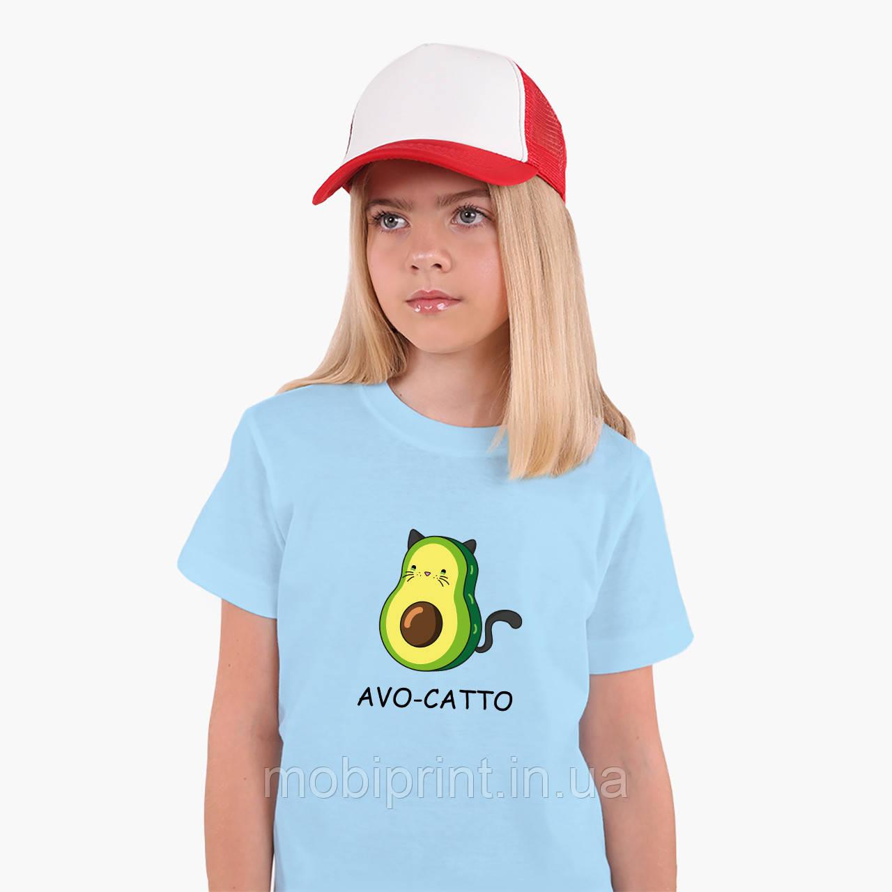 Детская футболка для девочек Авокадо (Avocado) (25186-1372) Голубой
