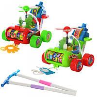Каталка-Вертолет на палочке детская игрушка 0867. Размер 18х16х16 см. Крутиться пропеллер, каруселька Т
