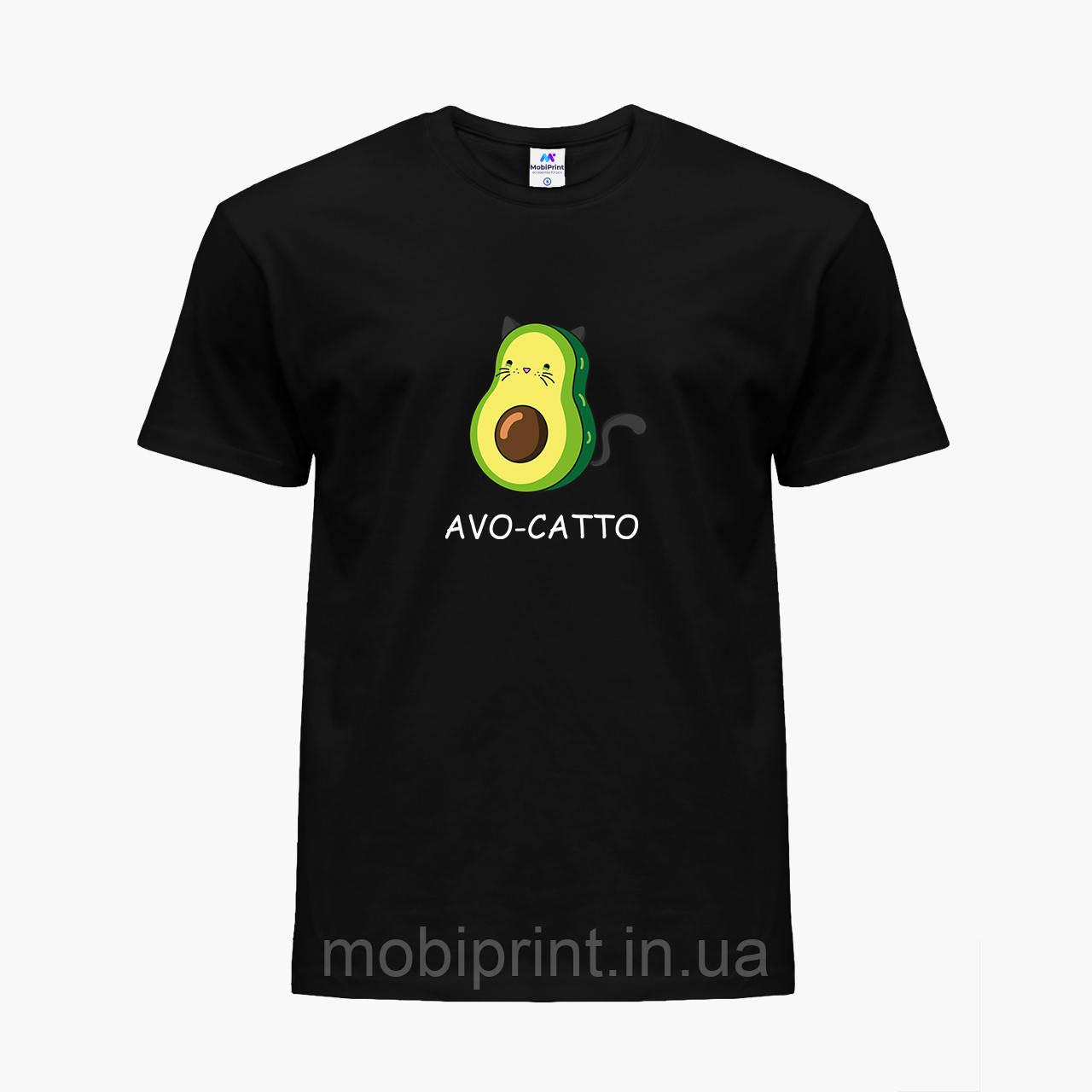 Детская футболка для девочек Авокадо (Avocado) (25186-1372) Черный