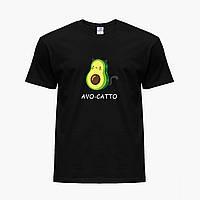 Детская футболка для девочек Авокадо (Avocado) (25186-1372) Черный, фото 1