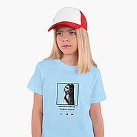Детская футболка для девочек Ариана Гранде (Ariana Grande) (25186-1624) Голубой, фото 1