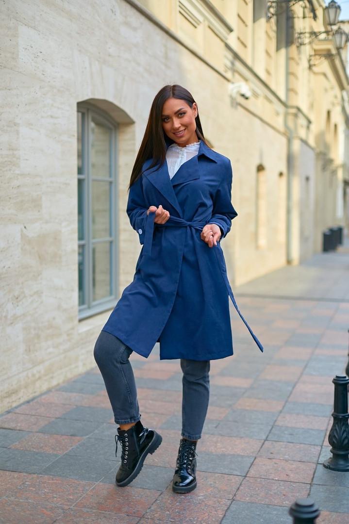 Пальто женское тренч с поясом удлиненное ткань парка размер: 48-50,52-54,56-58,60-62