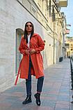 Пальто женское тренч с поясом удлиненное ткань парка размер: 48-50,52-54,56-58,60-62, фото 3