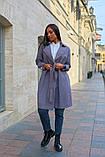 Пальто женское тренч с поясом удлиненное ткань парка размер: 48-50,52-54,56-58,60-62, фото 7