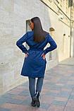 Пальто женское тренч с поясом удлиненное ткань парка размер: 48-50,52-54,56-58,60-62, фото 10