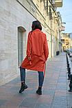Пальто женское тренч с поясом удлиненное ткань парка размер: 48-50,52-54,56-58,60-62, фото 2
