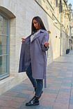 Пальто женское тренч с поясом удлиненное ткань парка размер: 48-50,52-54,56-58,60-62, фото 6