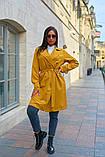Пальто женское тренч с поясом удлиненное ткань парка размер: 48-50,52-54,56-58,60-62, фото 4