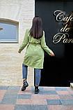 Пальто женское тренч с поясом удлиненное ткань парка размер: 48-50,52-54,56-58,60-62, фото 5