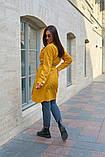 Пальто женское тренч с поясом удлиненное ткань парка размер: 48-50,52-54,56-58,60-62, фото 8