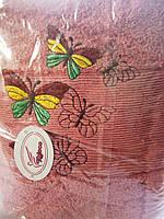 Банное полотенце бабочки 70 х 140 см Турция