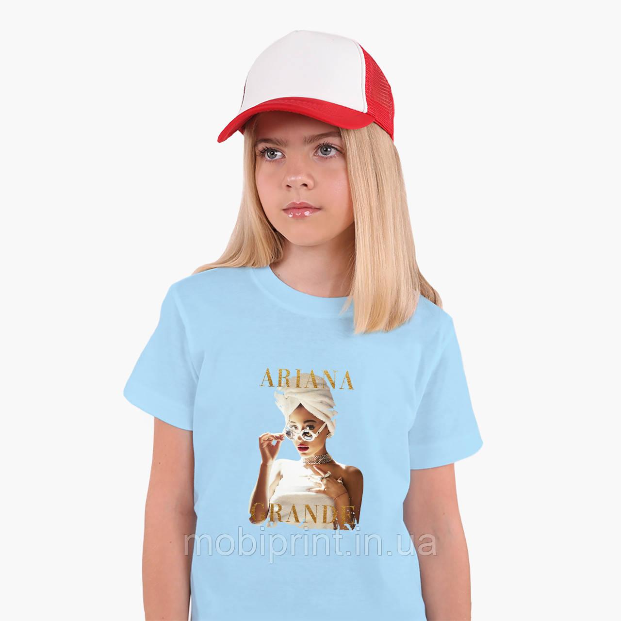 Детская футболка для девочек Ариана Гранде (Ariana Grande) (25186-1623) Голубой