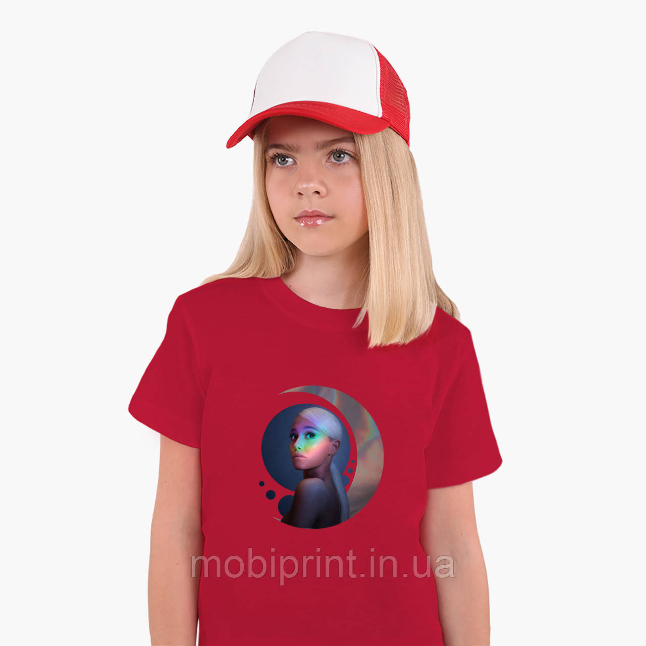 Детская футболка для девочек Ариана Гранде (Ariana Grande) (25186-1622) Красный