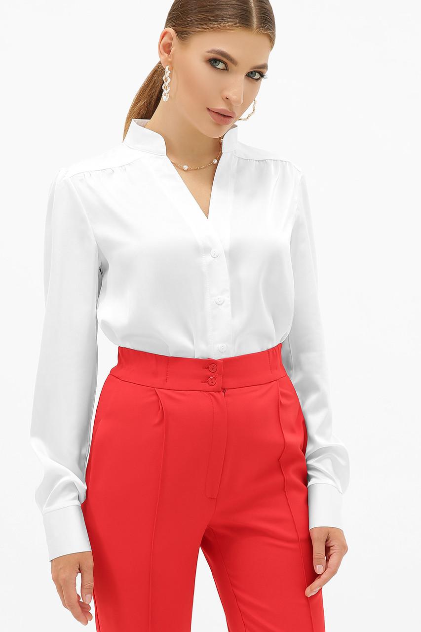 Біла шовкова блузка жіноча