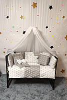 Комплект постельного в детскую кроватку BONNA Облако