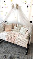 Комплект постельного белья в детскую кроватку Облако код1999, фото 2