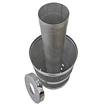 Труба-корзина (сетка) ø150 мм 1 мм 1 метр AISI 321 Stalar для камней дымохода сауны бани из нержавеющей стали, фото 2