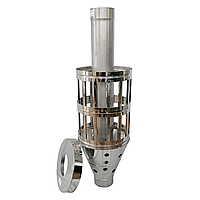 Труба-корзина (ребро) ø150 мм 1 мм 1 метр AISI 321 Stalar для камней дымохода сауны бани из нержавеющей стали