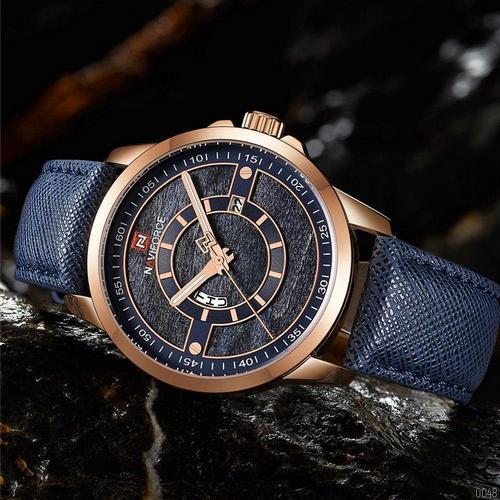 Часы наручные оригинал Naviforce NF9151 Blue-Cuprum