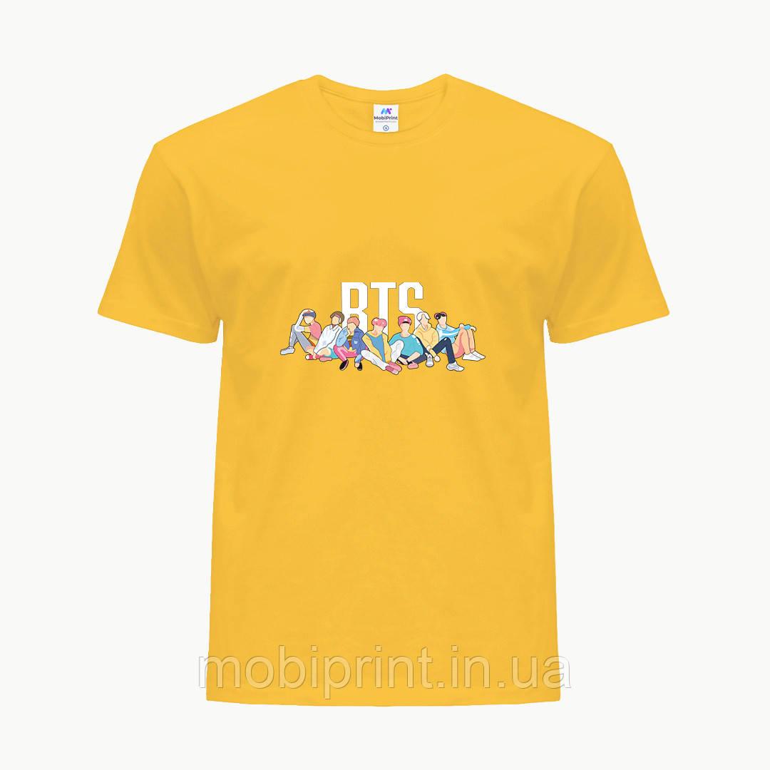 Детская футболка для девочек БТС (BTS) (25186-1061) Желтый