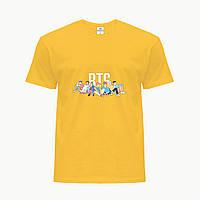 Детская футболка для девочек БТС (BTS) (25186-1061) Желтый, фото 1