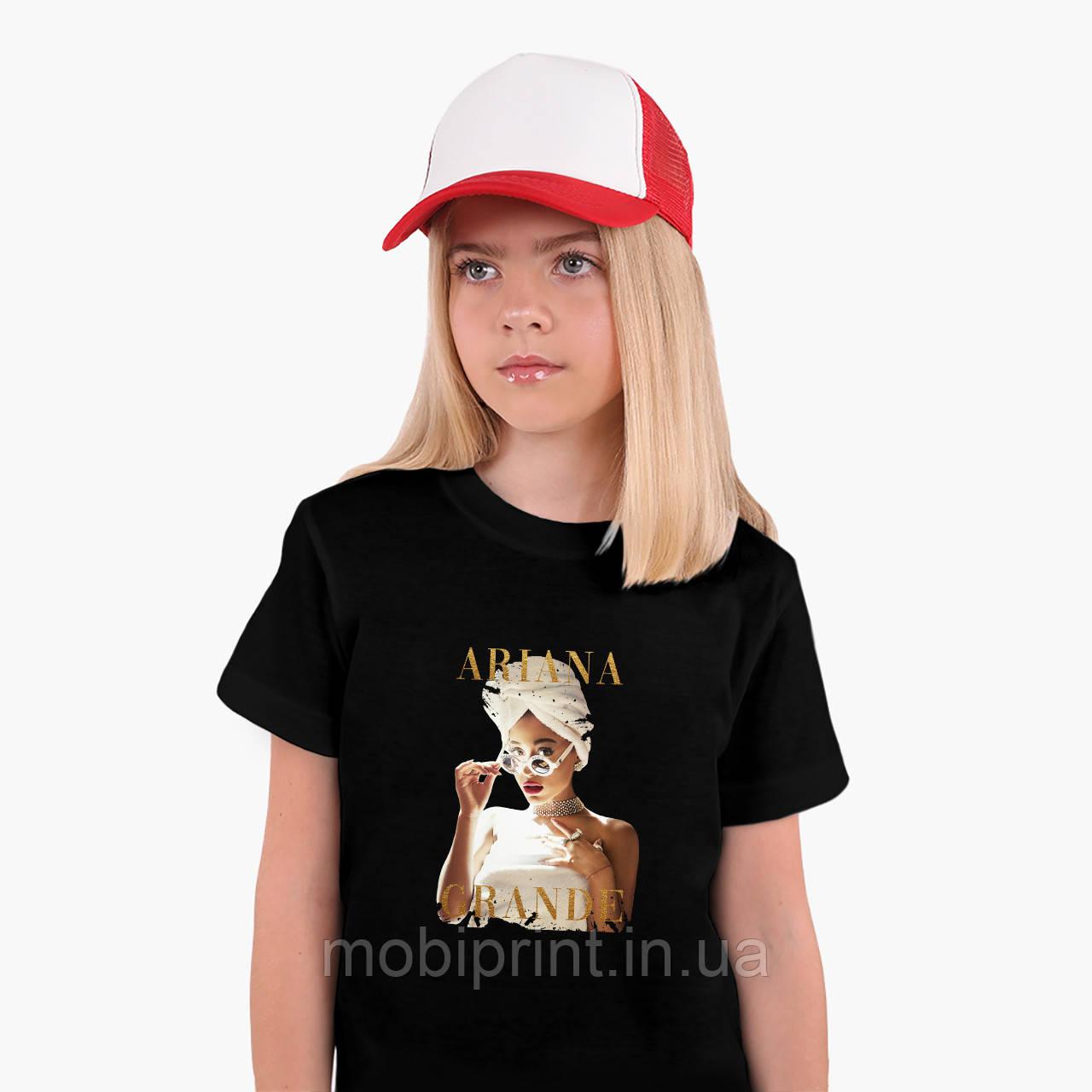 Детская футболка для девочек Ариана Гранде (Ariana Grande) (25186-1623) Черный