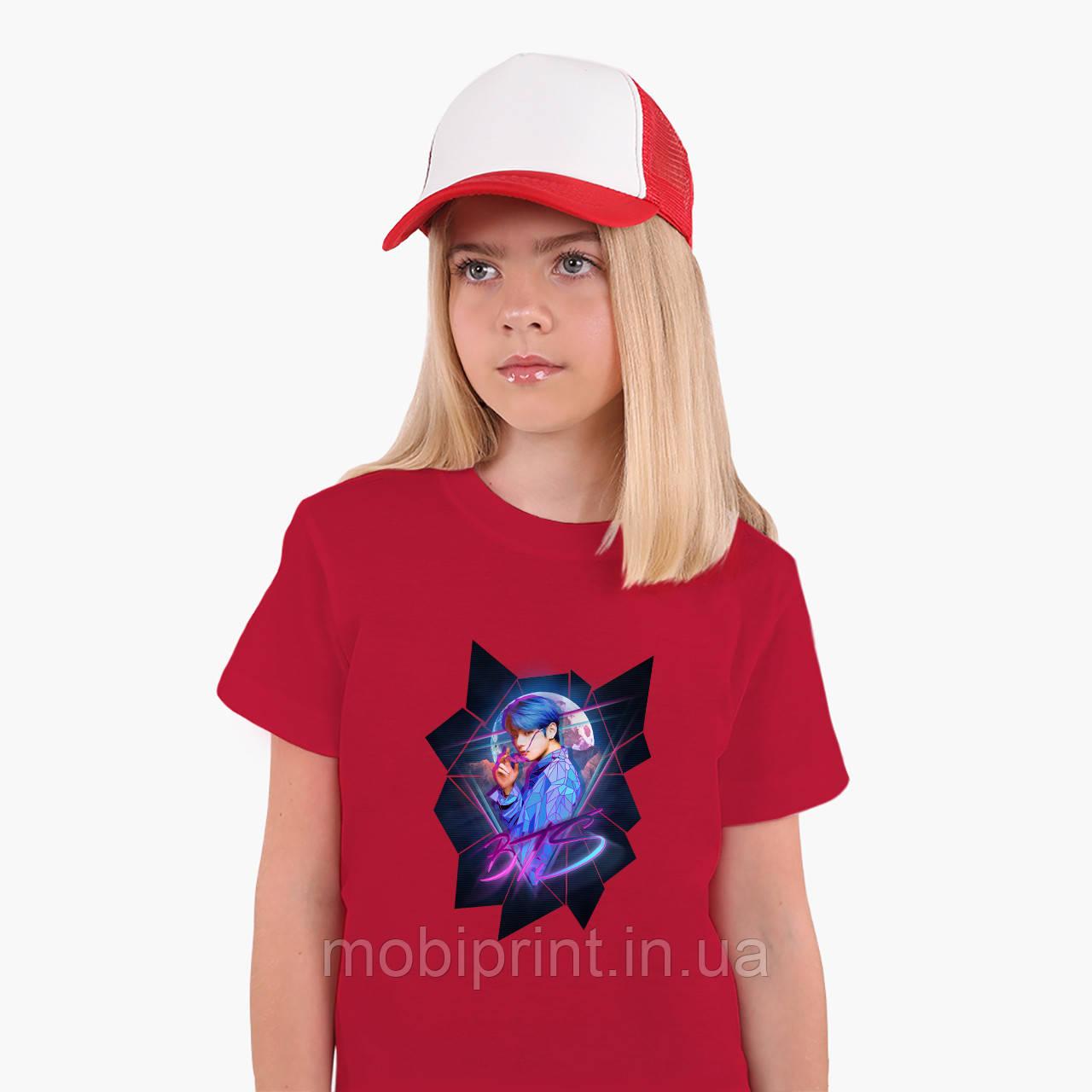 Детская футболка для девочек БТС (BTS) (25186-1067) Красный