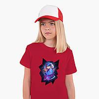 Детская футболка для девочек БТС (BTS) (25186-1067) Красный, фото 1