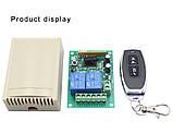 Универсальный беспроводной двух канальный модуль дистанционного управления 3 пульта 433 МГц, 12 в, фото 2