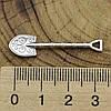 Серебряный сувенир Грошова лопата размер 35х9 мм вес 1.3 г, фото 3
