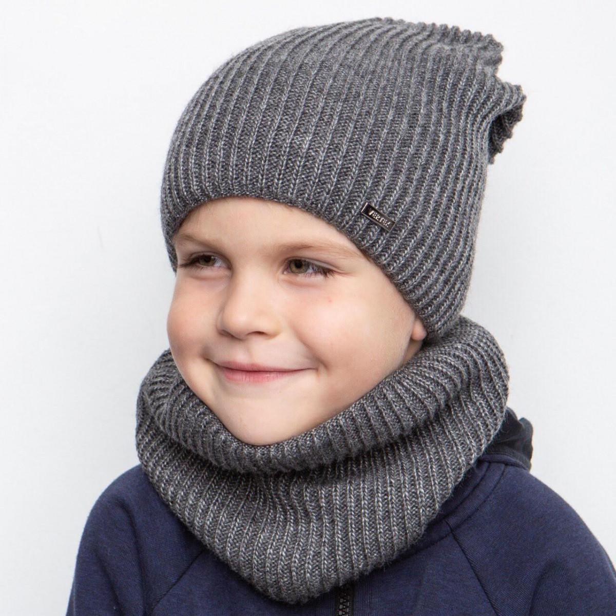 Однотонний зимовий комплект на флісі для хлопчика оптом - Артикул 2403