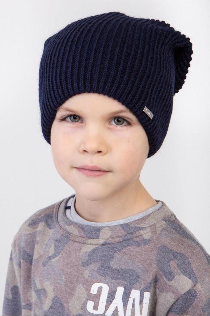 Шапка на зиму для хлопчика на флісі оптом - Артикул 2570