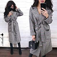 Модное удобное женское пальто-халат, 42-46 р