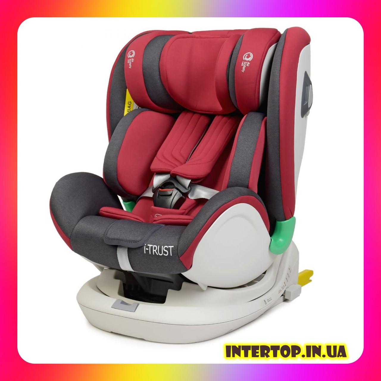 Детское автокресло с системой Isofix от рождения до 12 лет, El Camino I-TRUST ME 1081 красный