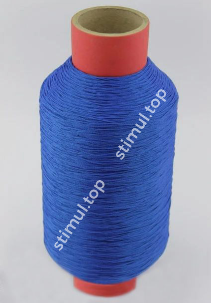Нитка капроновая 187 текс (Ø 1.2 мм) 1в3 ➜ 1.45 кг х 2180 м ➜ Синяя посадочная нить ➜ Поліамідні нитки